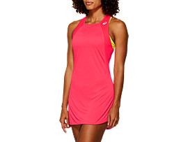 Front Top view of CLUB DRESS, LASER PINK