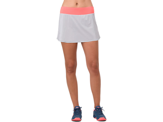 Front Top view of TENNIS SKORT, MID GREY