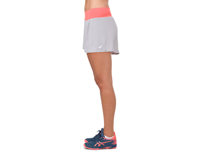 Side view of TENNIS SKORT, MID GREY