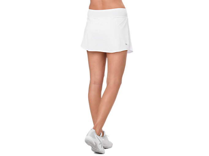 Back view of TENNIS SKORT, BRILLIANT WHITE