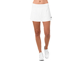 Front Top view of TENNIS SKORT, BRILLIANT WHITE