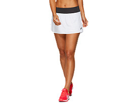 Front Top view of TENNIS SKORT, BRILLIANT WHITE/GRAPHITE GREY