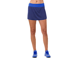 Front Top view of TENNIS SKORT, INDIGO BLUE