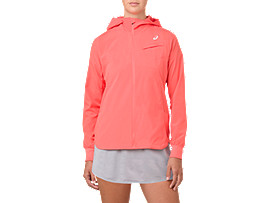 TENNIS WOVEN JACKET, PAPAYA