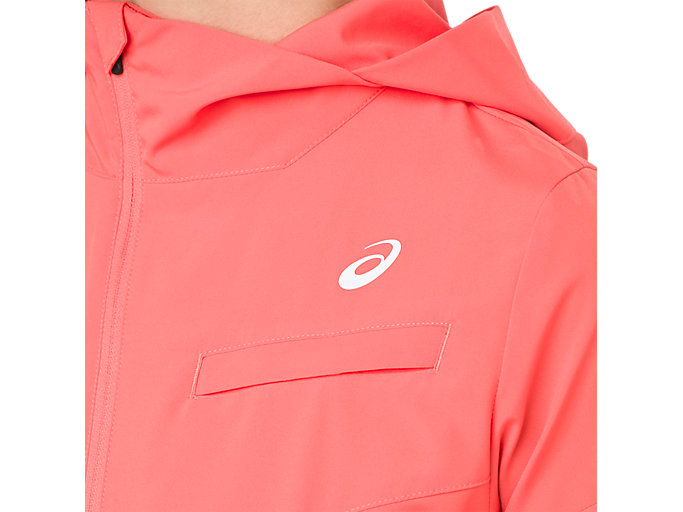 Alternative image view of TENNIS WOVEN JACKET, PAPAYA