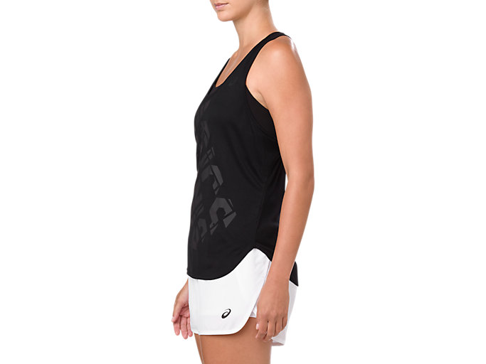 Side view of PRACTICE GRAPHIC TANK, PERFORMANCE BLACK