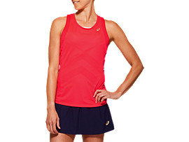 Front Top view of TENNIS W TANK, DIVA PINK