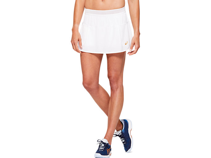 Front Top view of TENNIS W SKORT, BRILLIANT WHITE