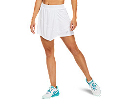 Front Top view of CLUB W SKORT, BRILLIANT WHITE