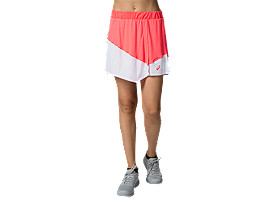Front Top view of CLUB W SKORT, DIVA PINK/BRILLIANT WHITE