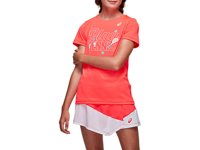Front Top view of TENNIS G KIDS GPX T, DIVA PINK