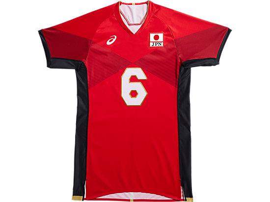 全日本男子バレーボールチーム オーセンティックシャツ, クラシックレッド/パフォーマンスブラック
