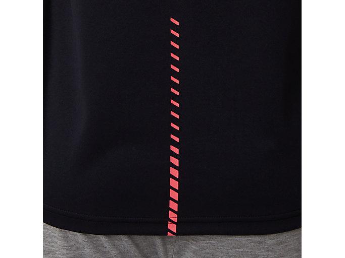Alternative image view of W'Sクールショートスリーブトップ, パフォーマンスブラック×レーザーピンク