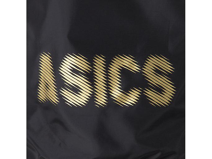 Alternative image view of ナガソデウオームアップシャツ, パフォーマンスブラック×ゴールド