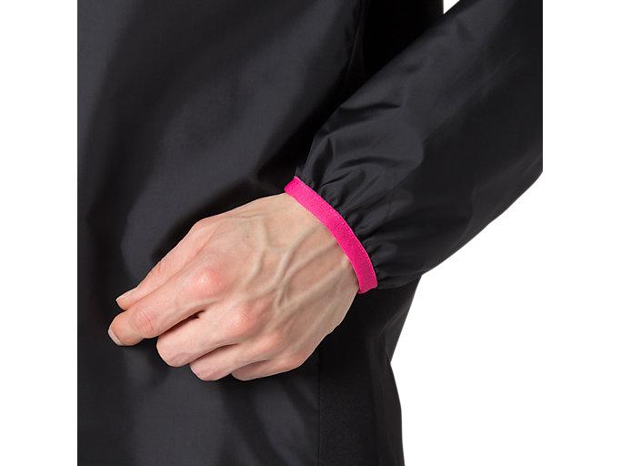 Alternative image view of ナガソデウオームアップシャツ, パフォーマンスブラック×ピンクグロー