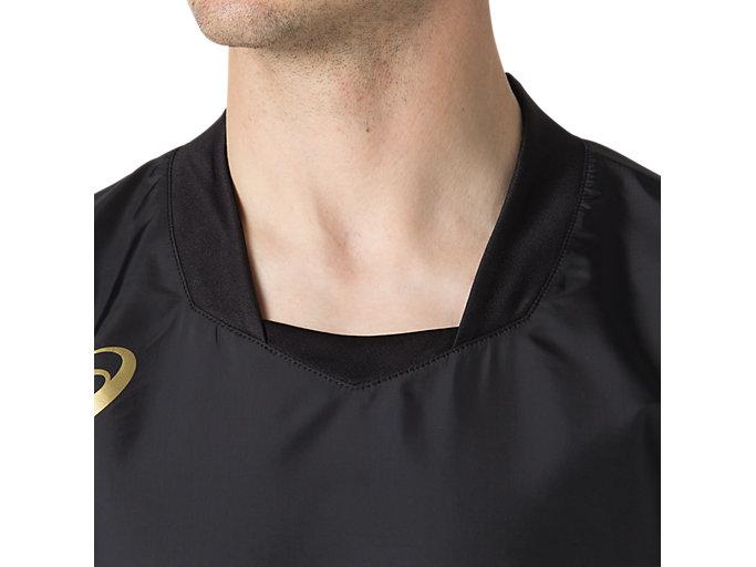 Alternative image view of ハンソデウオームアップシャツ, パフォーマンスブラック×ゴールド