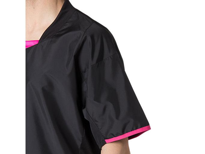 Alternative image view of ハンソデウオームアップシャツ, パフォーマンスブラック×ピンクグロー