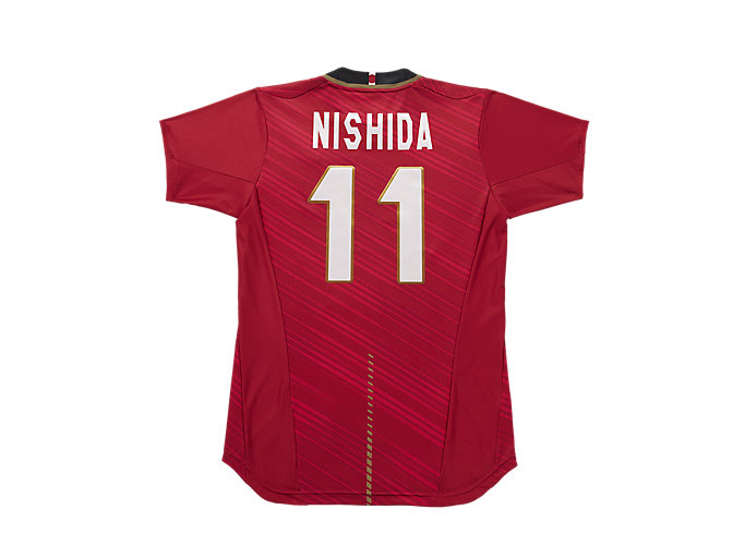 Back view of VB男子日本代表 オーセンティックシャツ, Vレッドxニシダ
