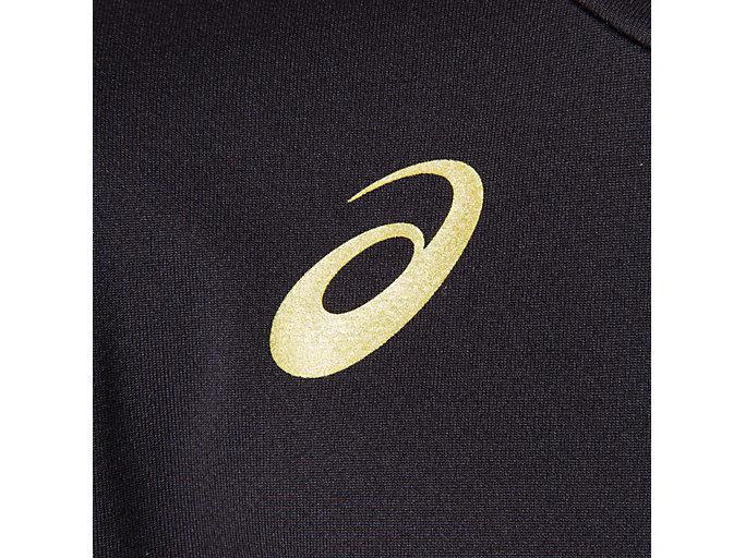 Alternative image view of Jr.クールショートスリーブトップ, パフォーマンスブラック×ゴールド
