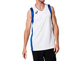 ゲームシャツ, ブリリアントホワイト×アシックスブルー