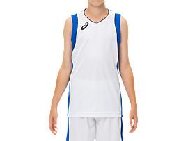 Jr.ゲームシャツ, ブリリアントホワイト×アシックスブルー