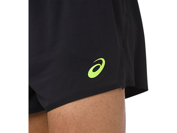 Alternative image view of KNIT SHORT, PERFORMANCE BLACK/HAZARD GREEN