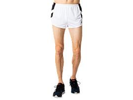 Front Top view of M'Sランニングパンツ, ブリリアントホワイト×パフォーマンスブラック