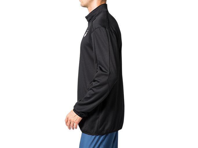 Side view of トレーニングジャケット, パフォーマンスブラック