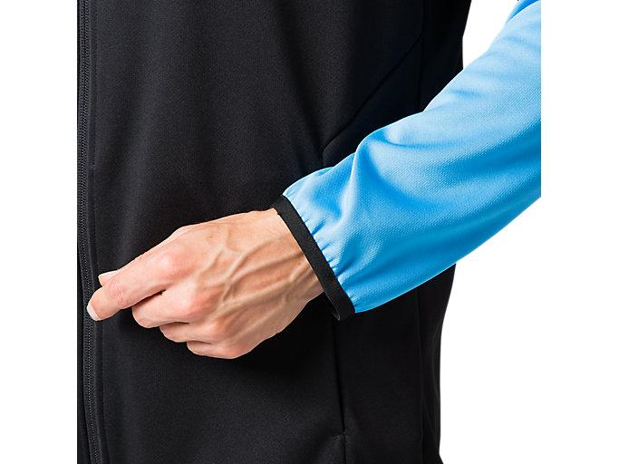 Alternative image view of トレーニングジャケット, パフォーマンスブラック×ドルフィンブルー