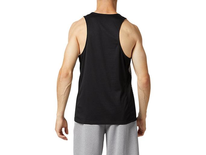 Back view of プラクティスランニングシャツ, パフォーマンスブラック