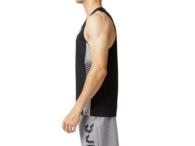 Side view of プラクティスランニングシャツ, パフォーマンスブラック