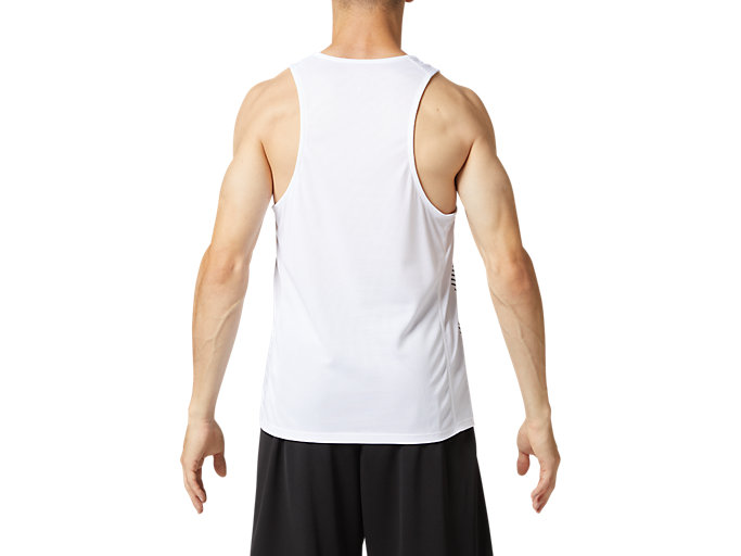 Back view of プラクティスランニングシャツ, ブリリアントホワイト