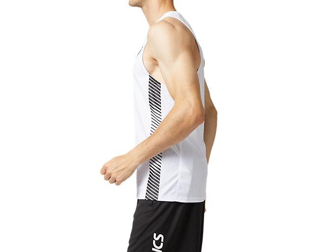 Side view of プラクティスランニングシャツ, ブリリアントホワイト