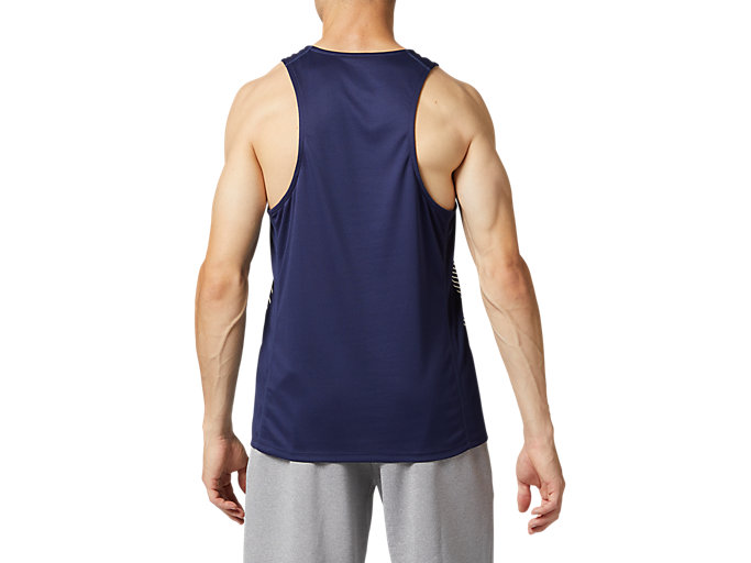Back view of プラクティスランニングシャツ, ピーコート