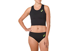 RUN BRA, PERFORMANCE BLACK/HAZARD GREEN
