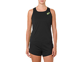 W'S SINGLET, PERFORMANCE BLACK/HAZARD GREEN