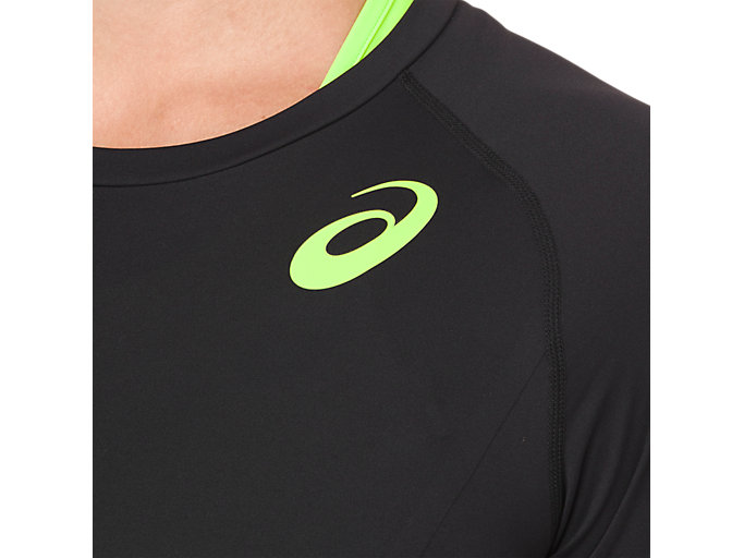 Alternative image view of W'S MOVING SS TOP, PERFORMANCE BLACK/HAZARD GREEN