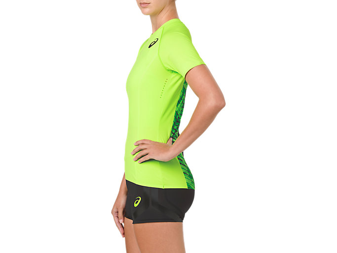 Side view of W'S MOVING SS TOP, HAZARD GREEN