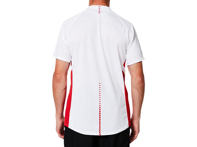 Back view of ゲームシャツ, BホワイトxCR
