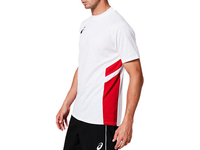 Side view of ゲームシャツ, BホワイトxCR