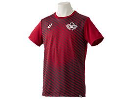 Front Top view of 早稲田サッカーレプリカシャツ, 早稲田エンジ