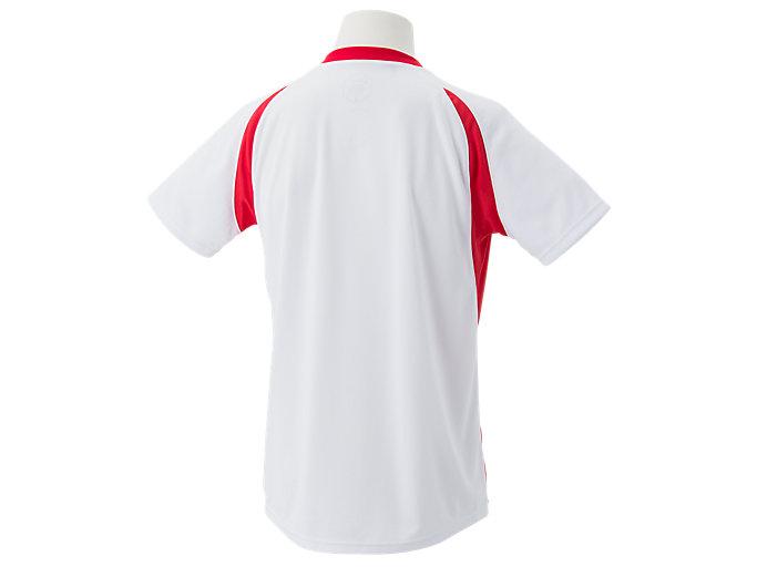 Back view of ゲームシャツ, ホワイトxクラシックレッド