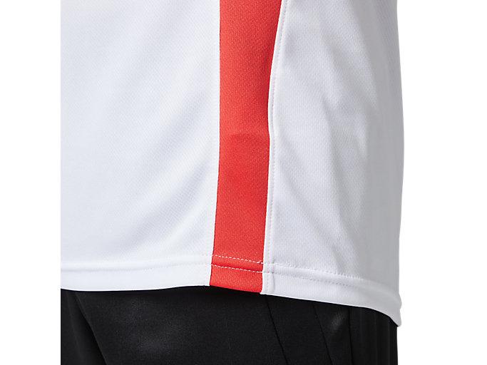 Alternative image view of ゲームシャツ, ホワイトxクラシックレッド
