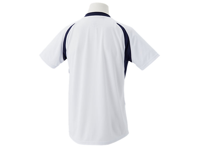 Back view of ゲームシャツ, ホワイトxピーコート
