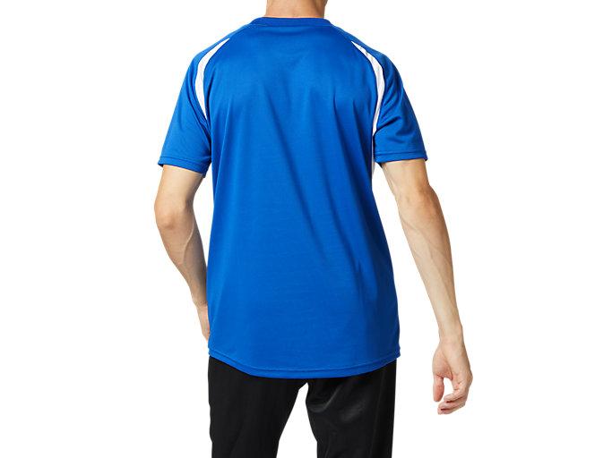Back view of ゲームシャツ, アシックスブルー