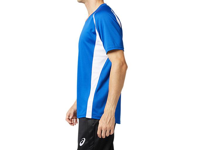 Side view of ゲームシャツ, アシックスブルー