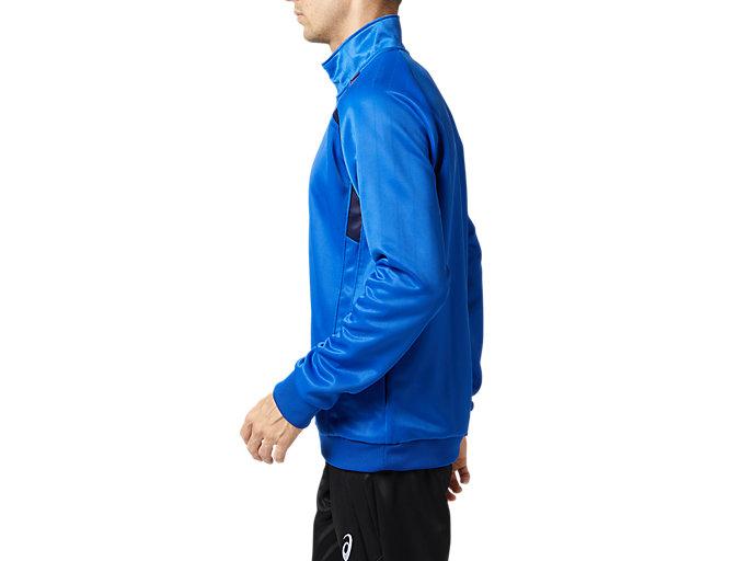 Side view of トレーニングジャケット, アシックスブルー