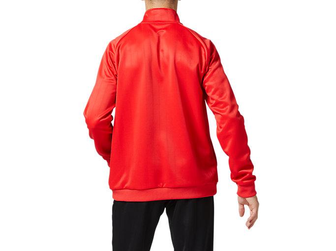 Back view of トレーニングジャケット, クラシックレッド