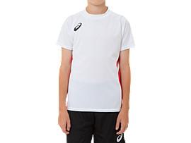 ジュニア ゲームシャツ, BホワイトxCR