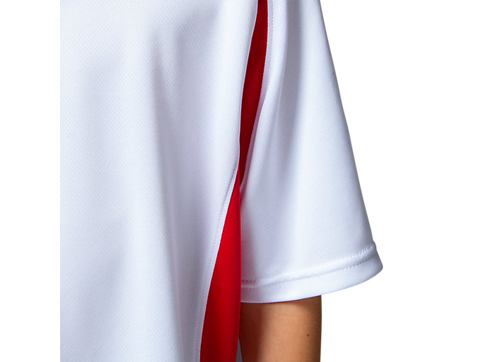 Alternative image view of Jr.ゲームシャツ, ホワイトxクラシックレッド
